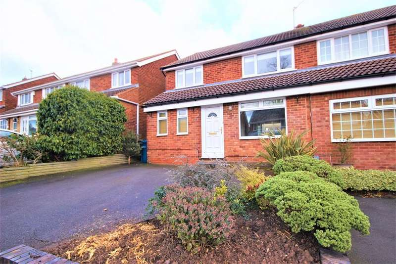 3 Bedrooms Semi Detached House for rent in Rocklands Crescent, Lichfield