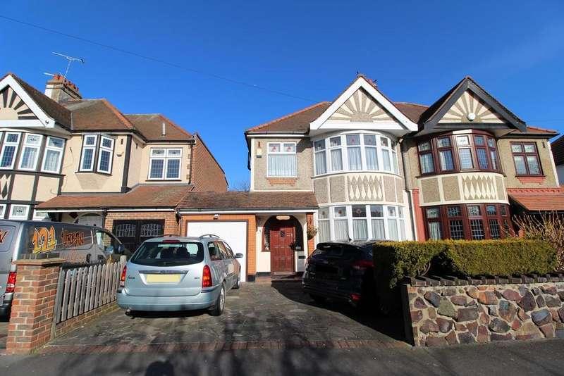 3 Bedrooms Semi Detached House for sale in Cranston Park Avenue, Upminster, Essex, RM14