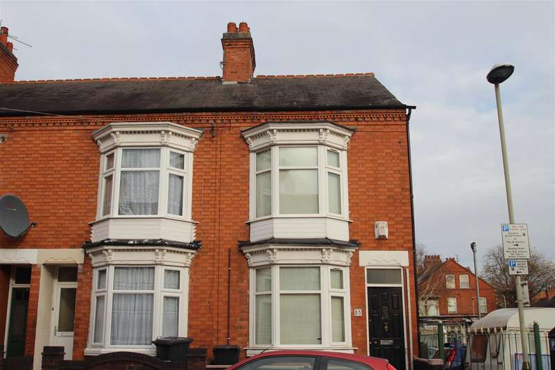 3 Bedrooms End Of Terrace House for sale in Barclay Street, Leicester