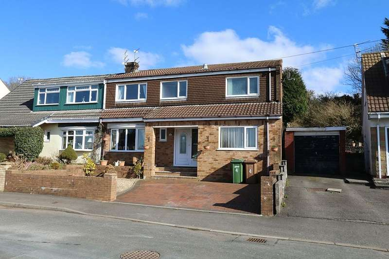 4 Bedrooms Semi Detached House for sale in Grange Hill, Bonnie View, Blackwood, Caerffili, NP12 3PE