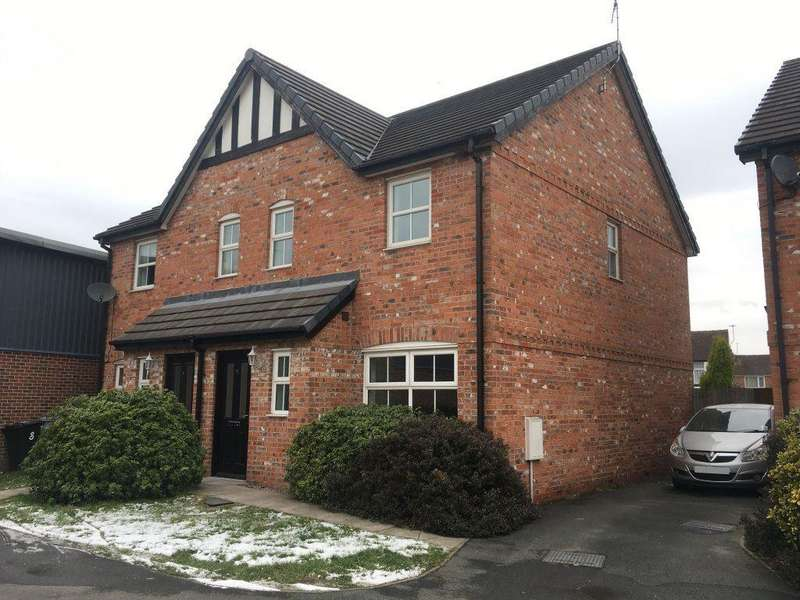 3 Bedrooms Semi Detached House for rent in Farrier Court, Crewe