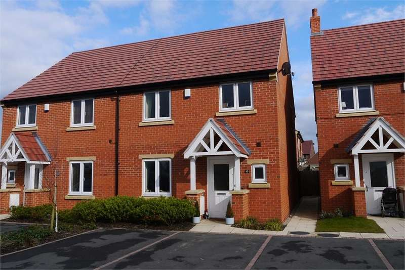 3 Bedrooms Semi Detached House for sale in Buttercup Close, Lutterworth, Leicestershire