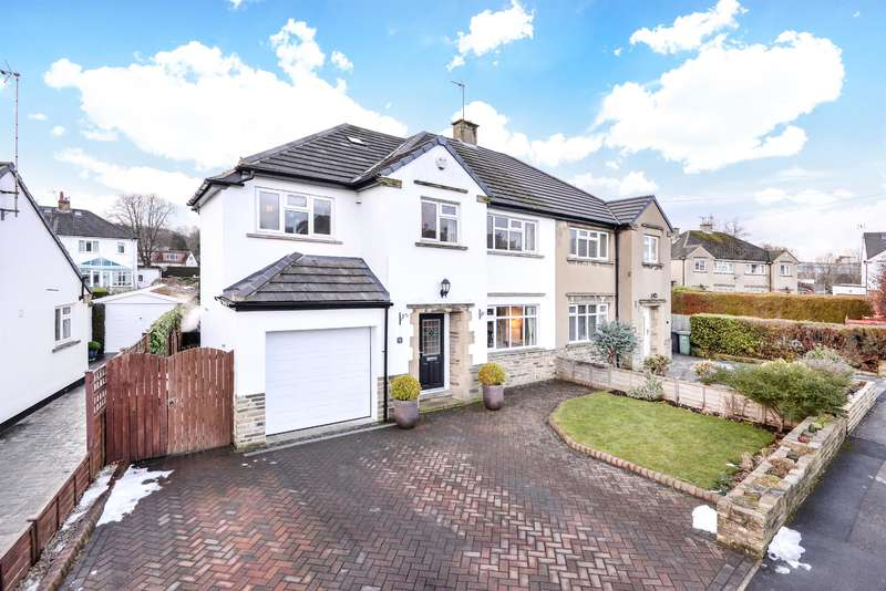 4 Bedrooms Semi Detached House for sale in Tranfield Avenue, Guiseley, Leeds, LS20 8NL