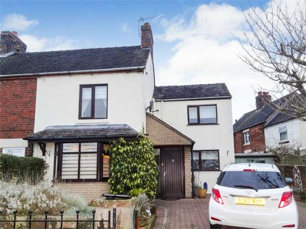 2 Bedrooms Semi Detached House for sale in Glebe Road, Kingsley, Stoke-on-Trent, Staffordshire
