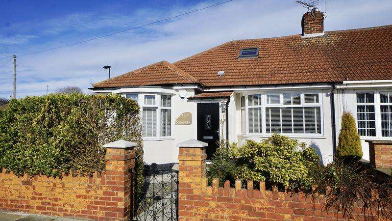 2 Bedrooms Semi Detached Bungalow for sale in Bosworth Gardens North Heaton