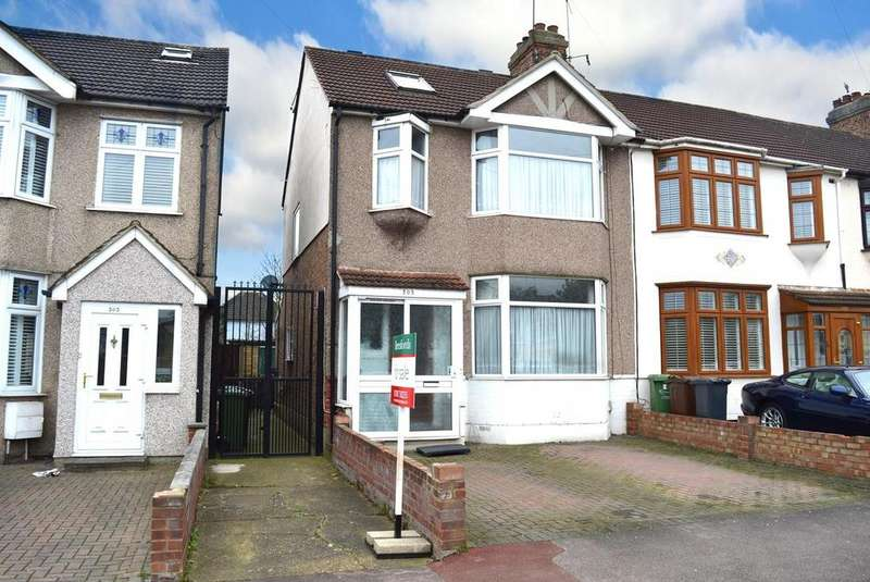 4 Bedrooms End Of Terrace House for sale in Gorseway, Rush Green, Romford, RM7