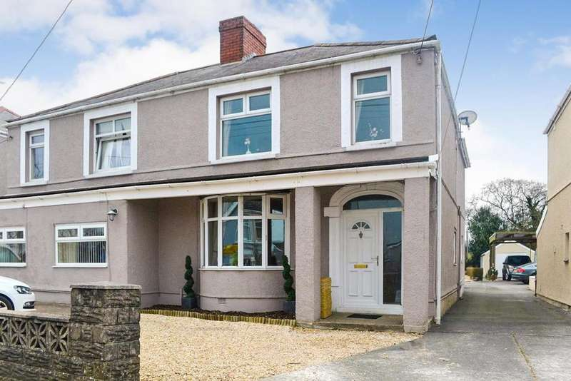 4 Bedrooms Semi Detached House for sale in Gorseinon Road, Penllergaer, Swansea