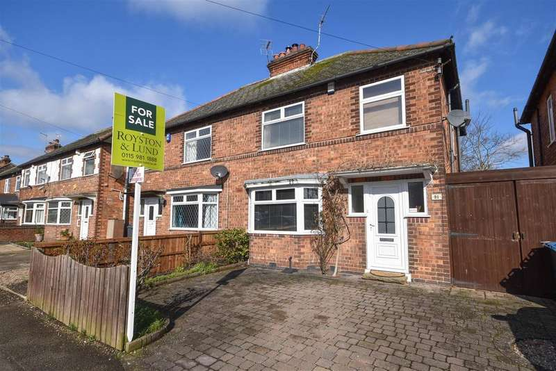 3 Bedrooms Semi Detached House for sale in Eltham Road, West Bridgford, Nottingham