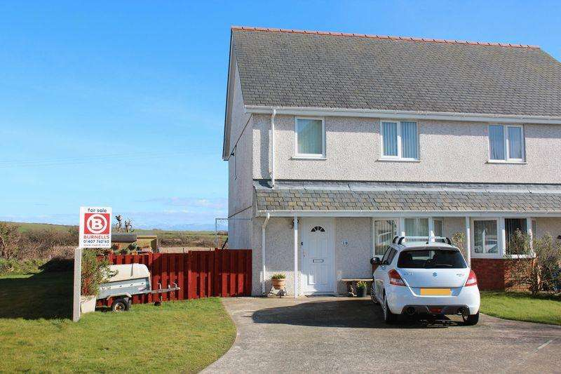 3 Bedrooms Semi Detached House for sale in Llys Yr Engan, Bodedern