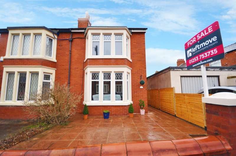 2 Bedrooms Semi Detached House for sale in Heathway Avenue, Layton, Blackpool, Lancashire, FY3 8HE