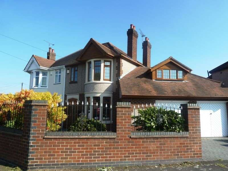 4 Bedrooms Semi Detached House for sale in Newdigate Road, Bedworth, CV12