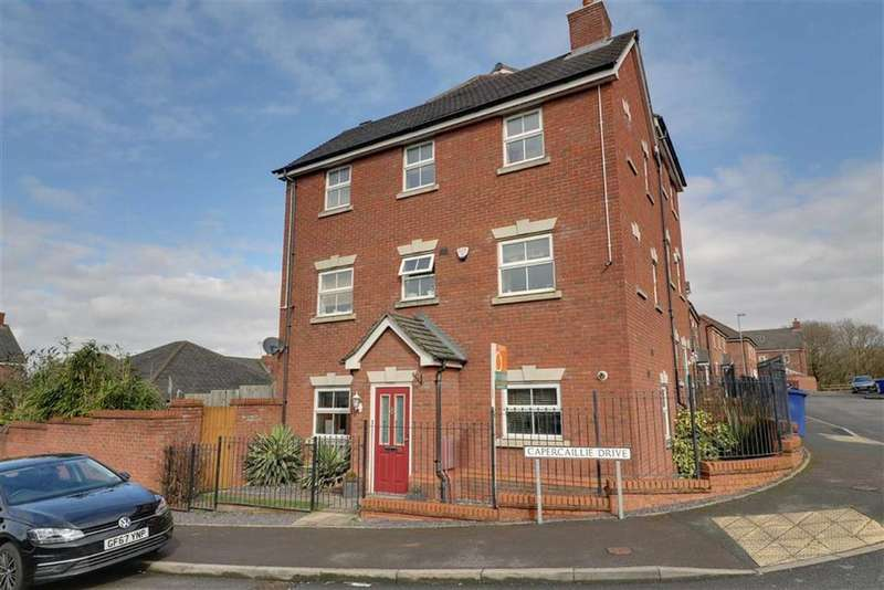 4 Bedrooms Semi Detached House for sale in Capercaillie Drive, Heath Hayes, Staffordshire