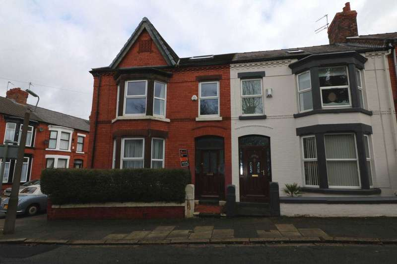 4 Bedrooms End Of Terrace House for sale in Croydon Avenue, Mossley Hill