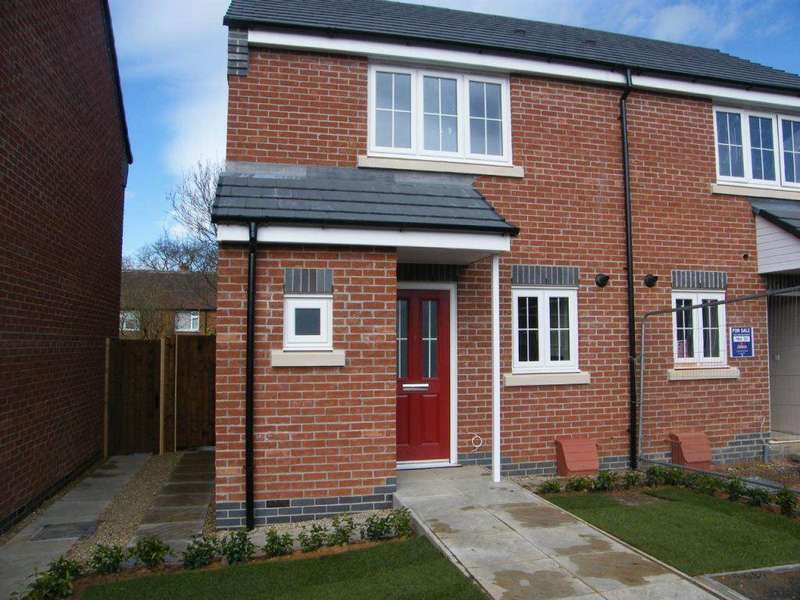 2 Bedrooms Semi Detached House for rent in Bushloe Gardens, Wigston, LE18 2DN