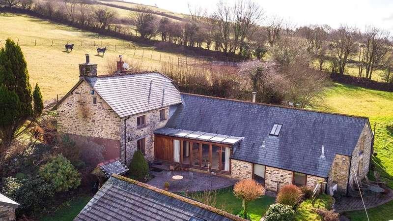 4 Bedrooms Detached House for sale in Nr Tavistock, Dartmoor National Park, Devon, PL19