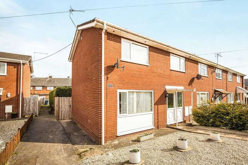 2 Bedrooms Semi Detached House for sale in Foxs Field, Gobowen, Oswestry, SY11