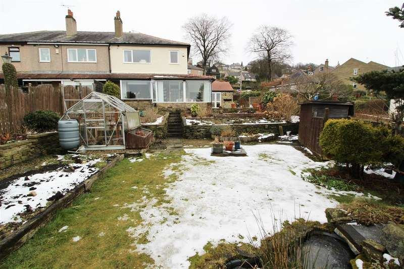 3 Bedrooms End Of Terrace House for sale in Brow Foot Gate Lane, Trimmingham, Halifax
