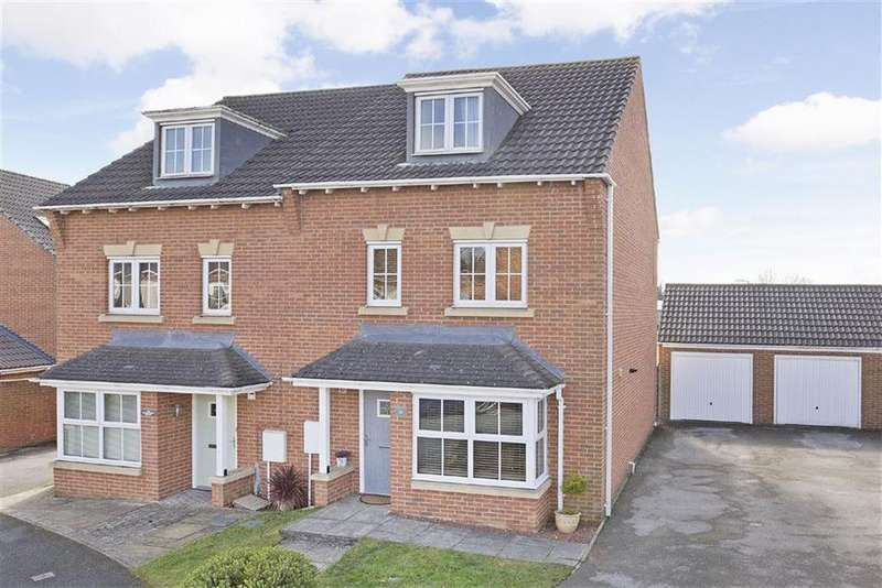 4 Bedrooms Semi Detached House for sale in Sterling Chase, Knaresborough, North Yorkshire