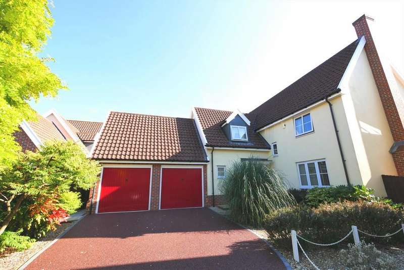 4 Bedrooms Detached House for sale in Woodward Close, Ipswich