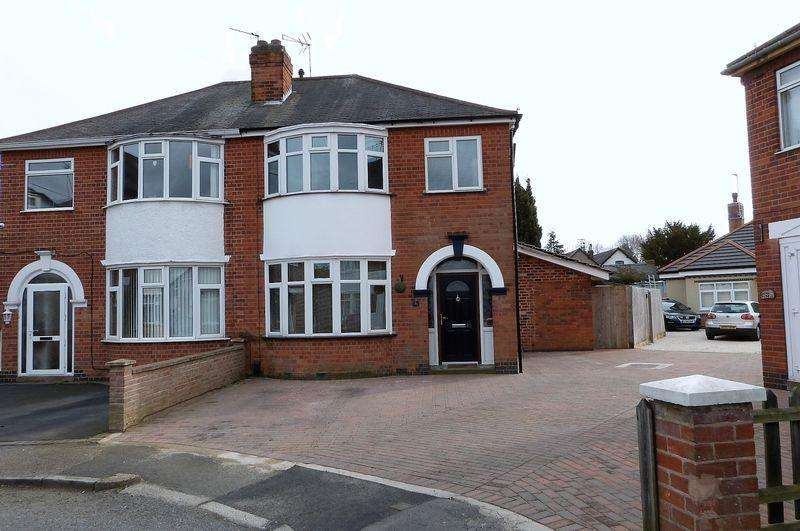 3 Bedrooms Semi Detached House for sale in Kew Drive, Wigston, Leicestershire