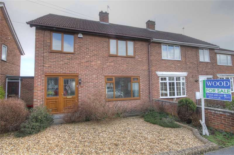 3 Bedrooms Semi Detached House for sale in Atkinson Gardens, Aycliffe Village, County Durham, DL5