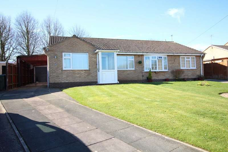 2 Bedrooms Semi Detached Bungalow for sale in Irwin Avenue, Loughborough