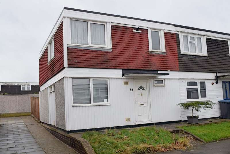 3 Bedrooms End Of Terrace House for sale in Lower Meadow, Harlow, Essex, CM18 7RF