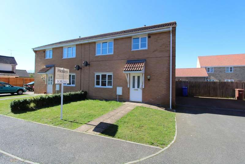 3 Bedrooms Semi Detached House for sale in Hawk Close, Beck Row, Bury St. Edmunds