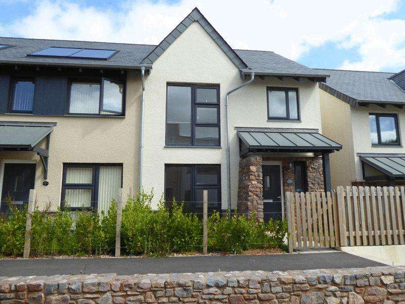 3 Bedrooms Semi Detached House for rent in 11 Tremlett Grove, Totnes
