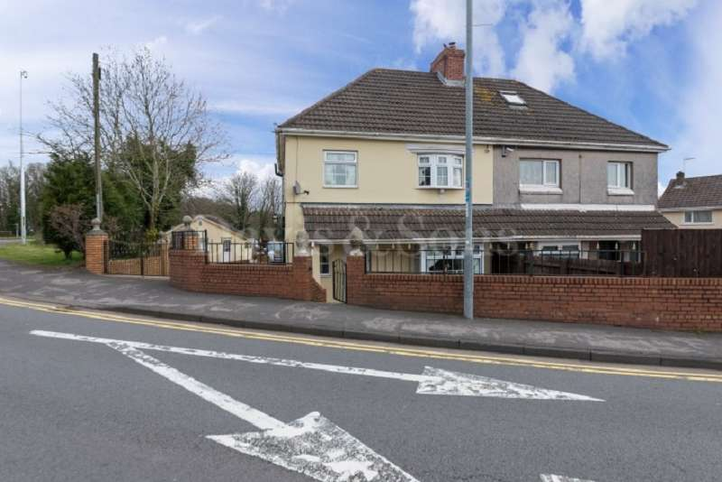 3 Bedrooms Semi Detached House for sale in Glasllwch Crescent, Newport, Gwent. NP20 3SE
