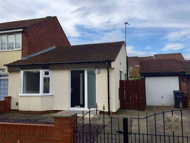 2 Bedrooms Semi Detached Bungalow for sale in Drake Close, South Shields