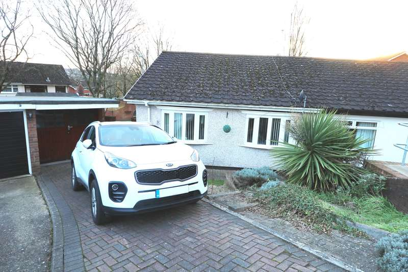 2 Bedrooms Semi Detached Bungalow for sale in Plane Tree Close, Caerleon, Newport, NP18