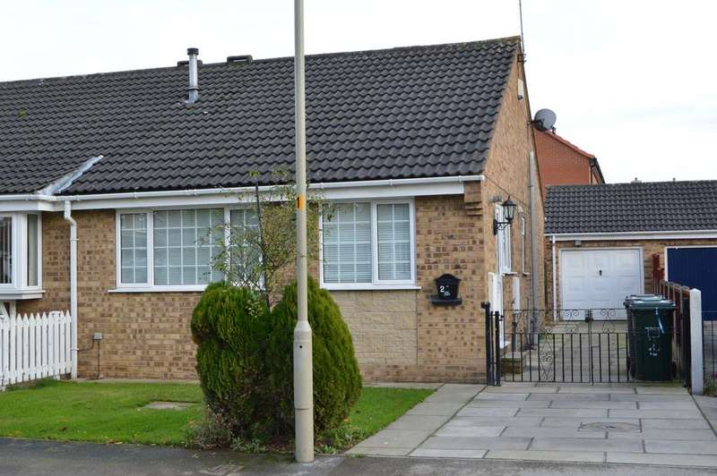 2 Bedrooms Semi Detached Bungalow for sale in Fairfield Close, Sherburn in Elmet LS25