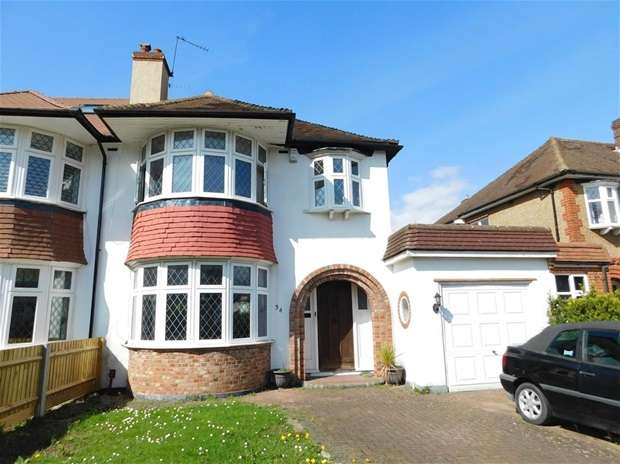 3 Bedrooms Semi Detached House for sale in Highdown, Worcester Park