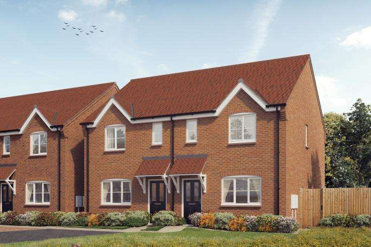 3 Bedrooms Semi Detached House for sale in Plot 1, The Donnington, Saxon Grove, Sundorne, Shrewsbury, SY1 3RG