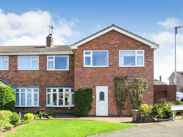 4 Bedrooms Semi Detached House for sale in Wards Crescent, Sileby, Loughborough, Leicestershire