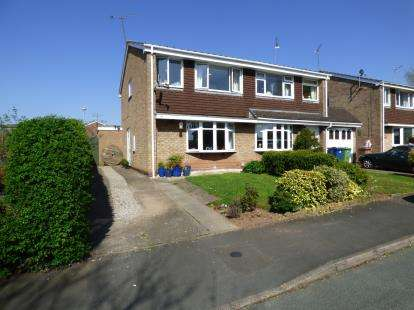 3 Bedrooms Semi Detached House for sale in Fairmead Close, Wildwood, Stafford, Staffordshire