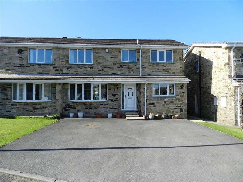 3 Bedrooms Semi Detached House for sale in Merlin Court, Netherton, Huddersfield, HD4