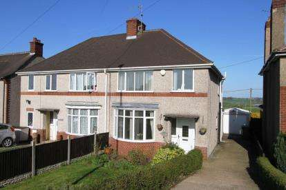 3 Bedrooms Semi Detached House for sale in Stretton Road, Clay Cross, Chesterfield, Derbyshire