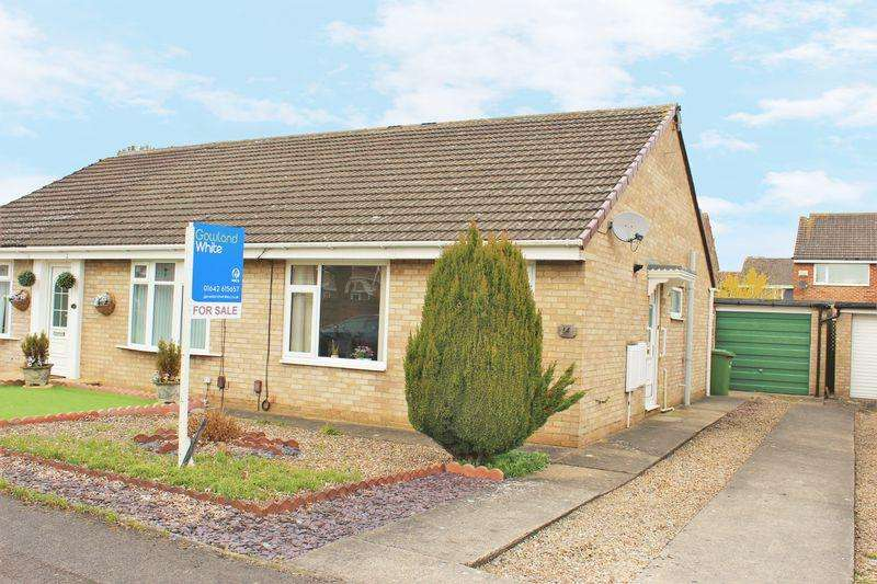 2 Bedrooms Semi Detached Bungalow for sale in Croxton Close, Fairfield, Stockton, TS19 7SW