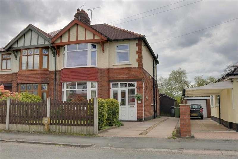 3 Bedrooms Semi Detached House for sale in Brookland Avenue, Wistaston, Crewe