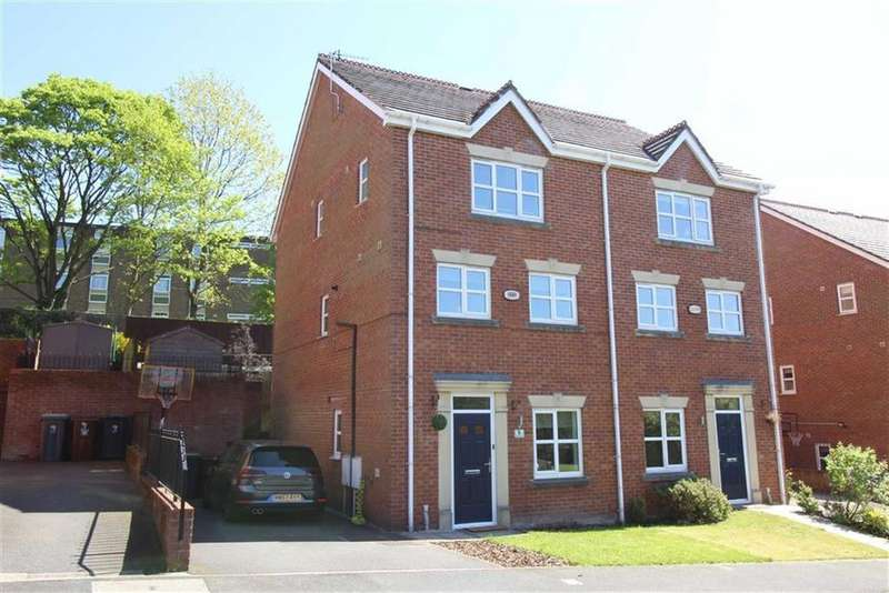 3 Bedrooms Semi Detached House for sale in Bakehurst Close, New Mills, High Peak, Derbyshire