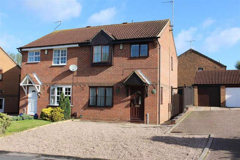 3 Bedrooms Semi Detached House for sale in Pimpernel Close, Narborough, Leicester