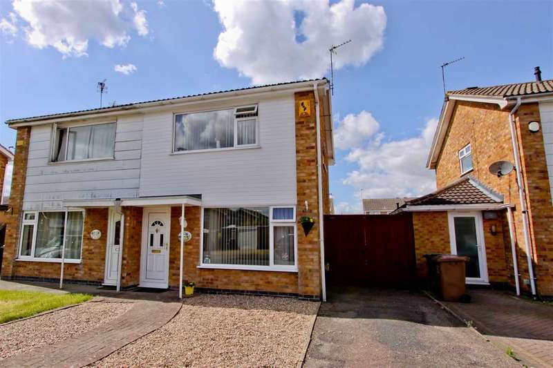 3 Bedrooms Semi Detached House for sale in Montague Avenue, Syston, Leicester