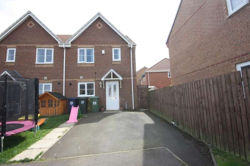 3 Bedrooms Semi Detached House for sale in Greenside View, Boosbeck, Saltburn-By-The-Sea, TS12