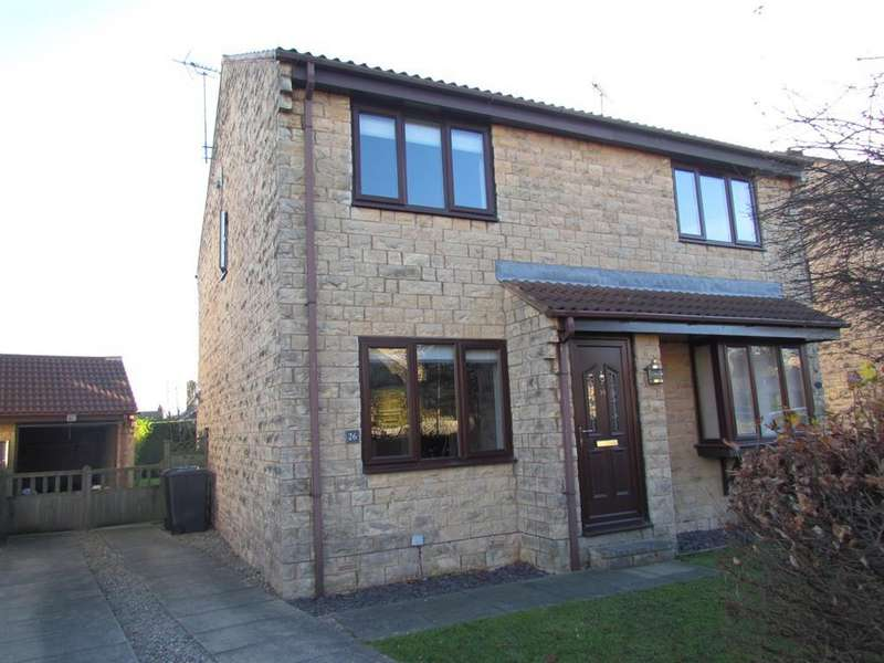 2 Bedrooms Semi Detached House for rent in Hudson Way, Tadcaster, LS24 8JF