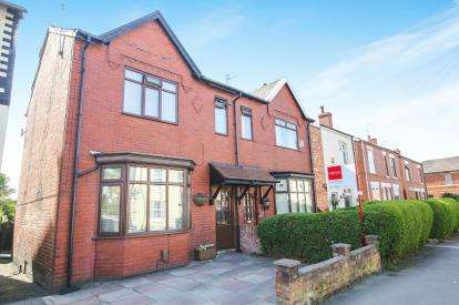 3 Bedrooms Semi Detached House for sale in Cherry Tree Lane, Great Moor, Stockport, Cheshire