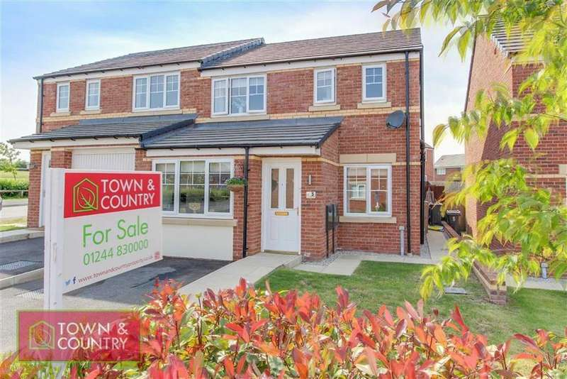 3 Bedrooms Semi Detached House for sale in Ffordd Tudno, Oakenholt, Flint, Flintshire