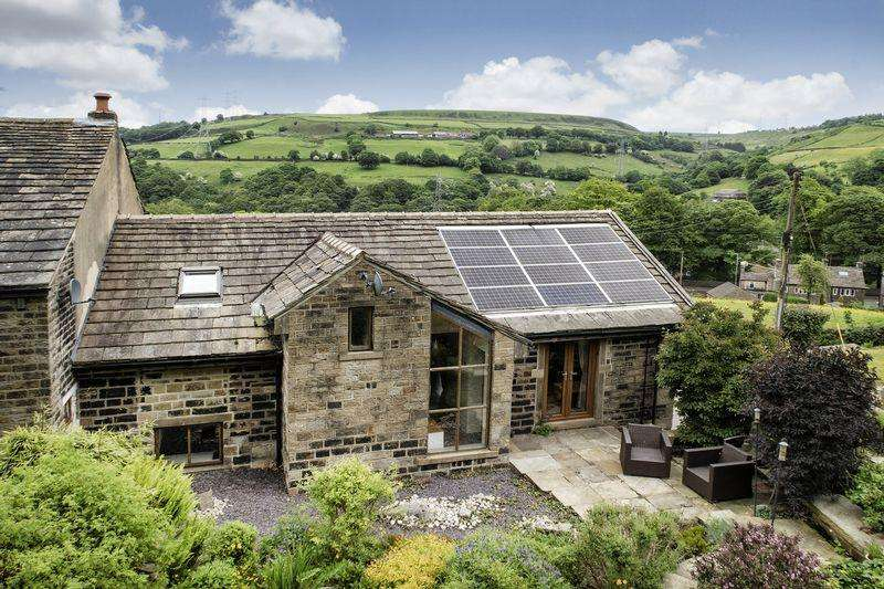 3 Bedrooms Barn Conversion Character Property for sale in Blackwood Cottage, Godly Lane, Rishworth, HX6 4QR