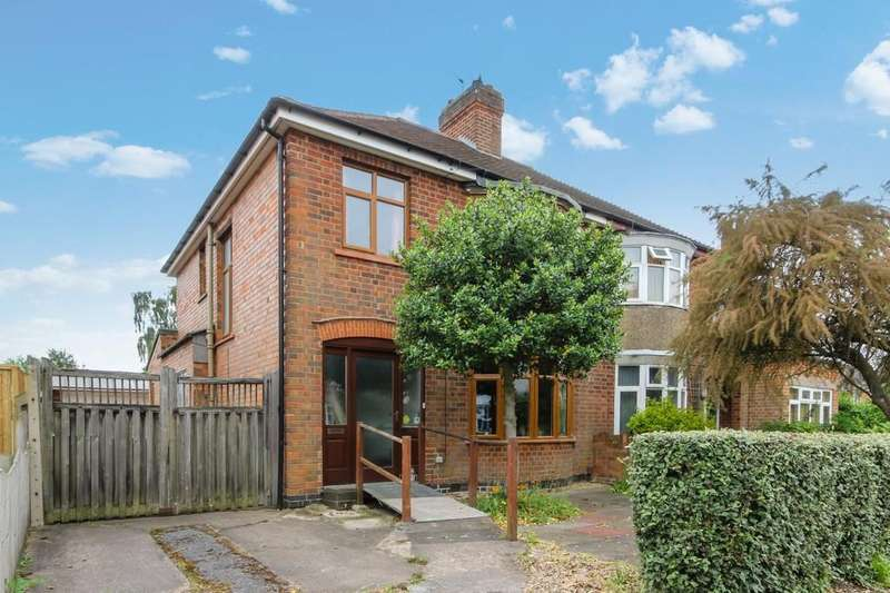 3 Bedrooms Semi Detached House for sale in Colgrove Road, Loughborough